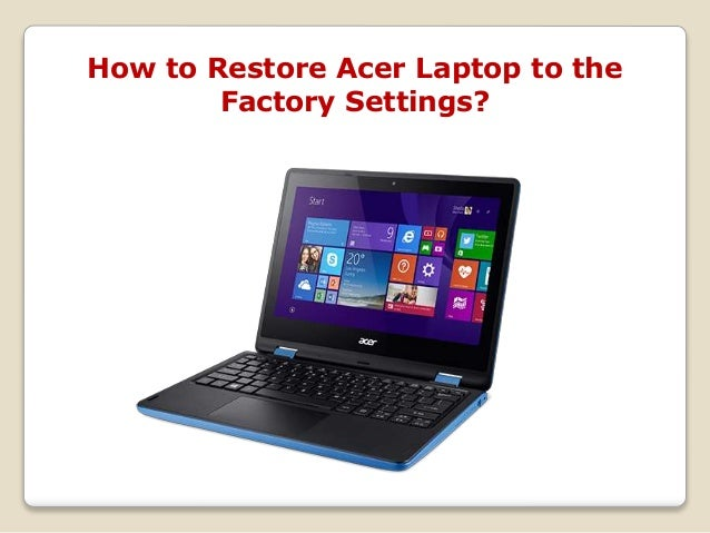 factory reset acer aspire one laptop