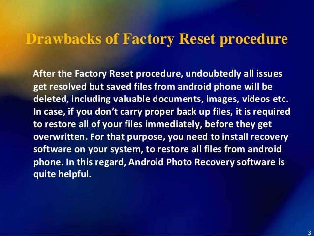 how to get files back after factory reset