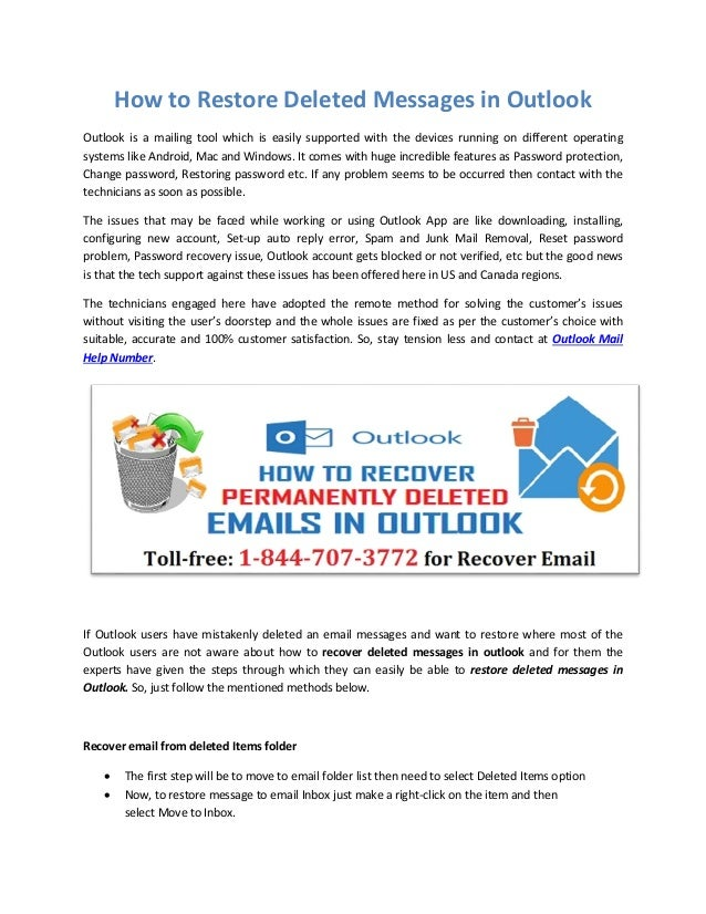 How to Restore Deleted Messages in Outlook