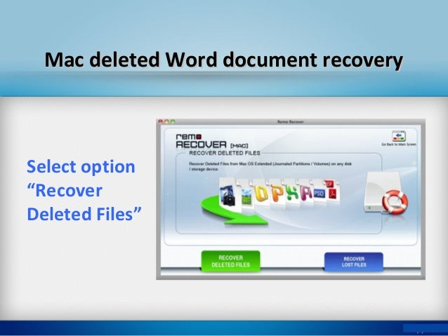 continue word file recovery procedure select recover files to continue 5 mac deleted word document