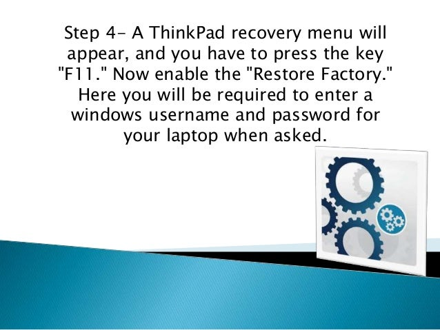 lenovo windows 7 factory restore