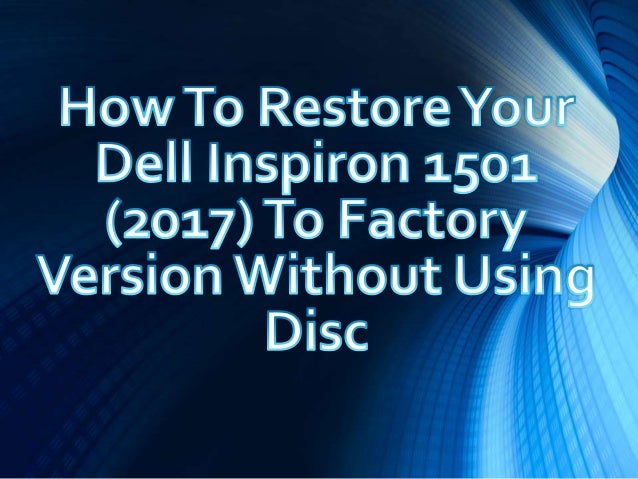 how to run dell recovery