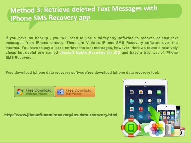 jihosoft mobile recovery for ios free download