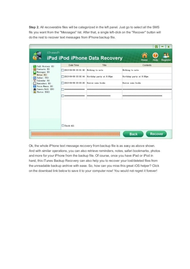 How to Retrieve Deleted Text Messages from iPhone 4/4s/5/6