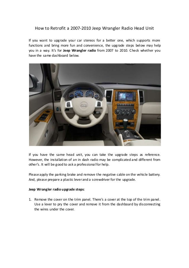 how to retrofit a 2007 2010 jeep wrangler radio head unit 2014 vw touareg owners manual pdf 2004 volkswagen touareg repair manual