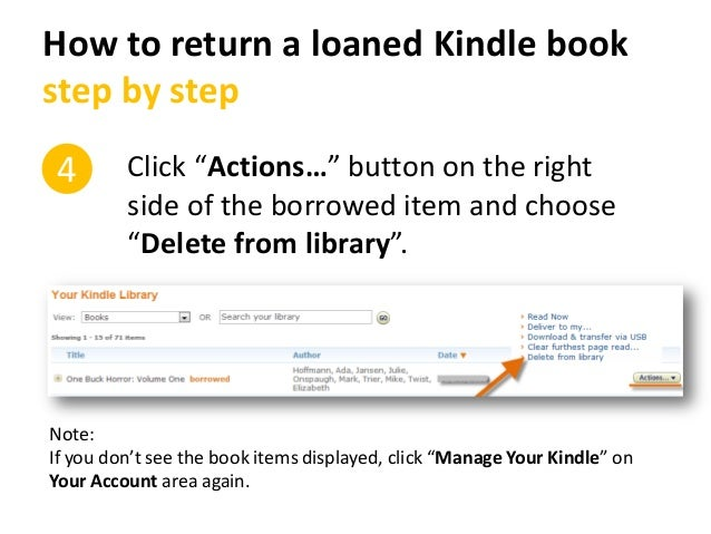 how to delete items from amazon kindle