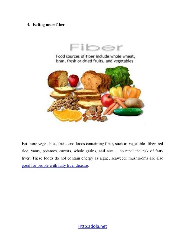 Foods To Eat For Fatty Liver Disease