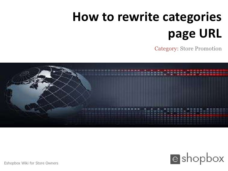 How to rewrite categories                                                 page URL                                        ...
