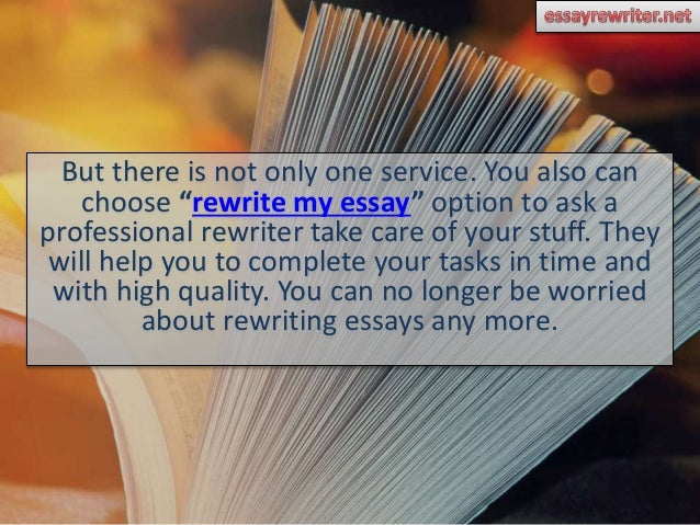 Argumentative Essay Examples For High School  Essay Papers Examples also Thesis Examples For Essays How To Rewrite My Essay And Get Good Results How To Write A Proposal Essay