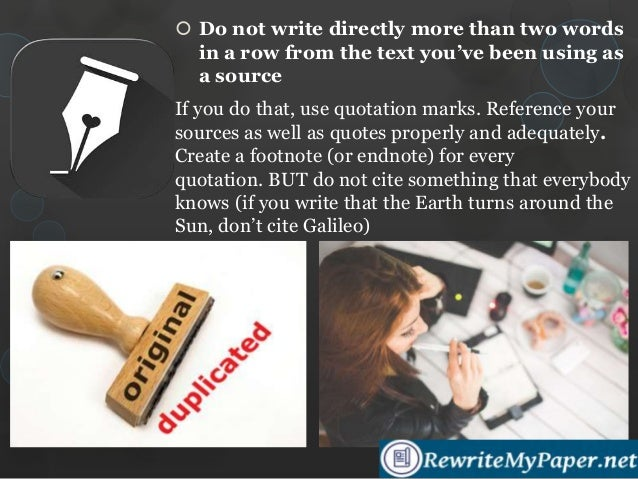 how to make detailed references to avoid plagiarism