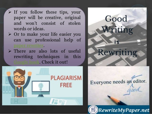 how to rewrite my paper to avoid plagiarism 19