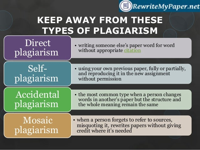 types plagiarism essays Keywords: web plagiarism, plagiarism detection, student essays, evaluation 1   their ability to detect types of plagiarism ranging from direct copying to.