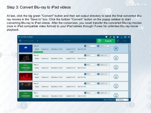 How to rip and convert blu ray movies to i pad tablets