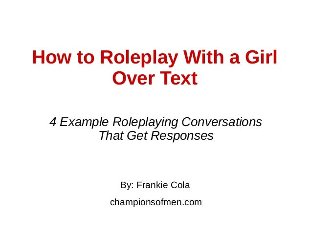 examples of role play over text