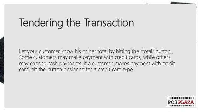 how to run cash register