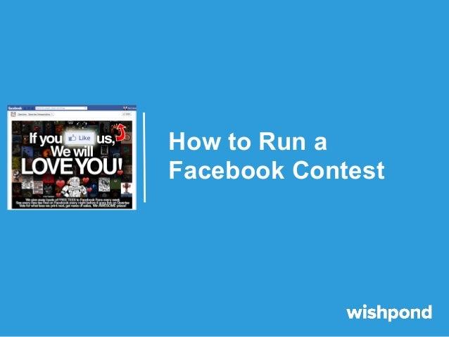 How to Run a Facebook Contest