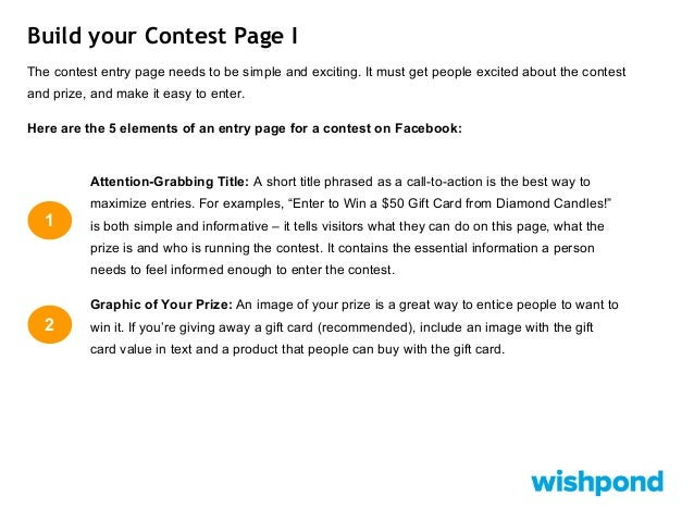 Facebook Po Contest Rules Template | How To Run A Facebook Contest