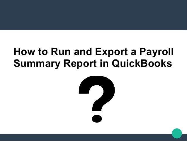 payroll summary