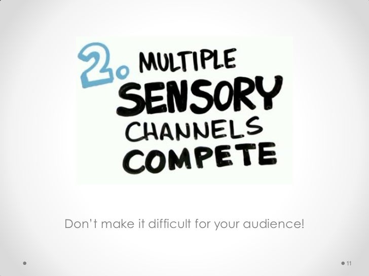 Don't make it difficult for your audience!                                             11