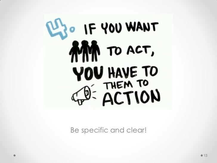 Be specific and clear!                         13