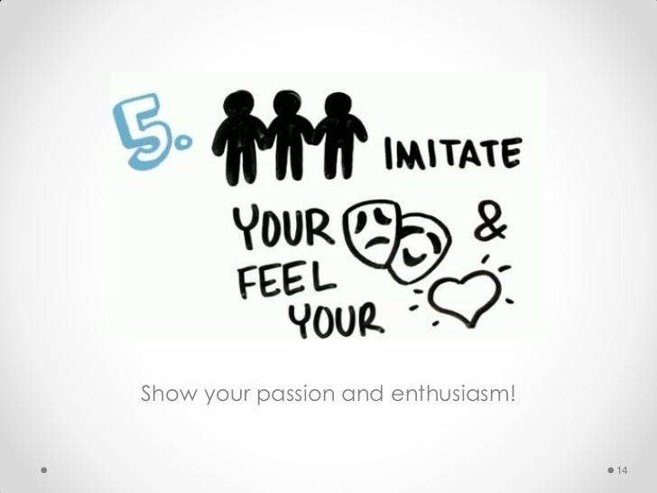 Show your passion and enthusiasm!                                    14