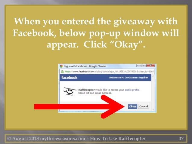 Run facebook giveaways