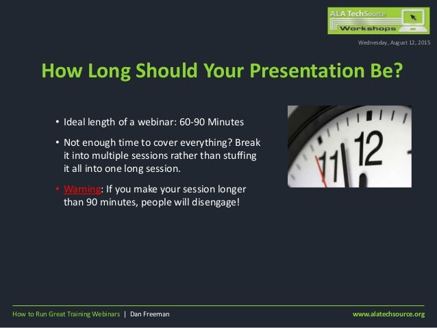 How Long Should Your Presentation