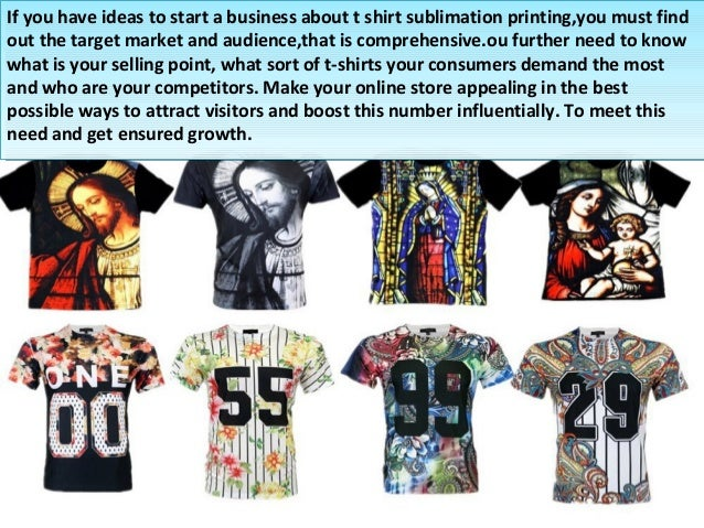 How to run your own t shirt sublimation printing business for T shirt printing business start up