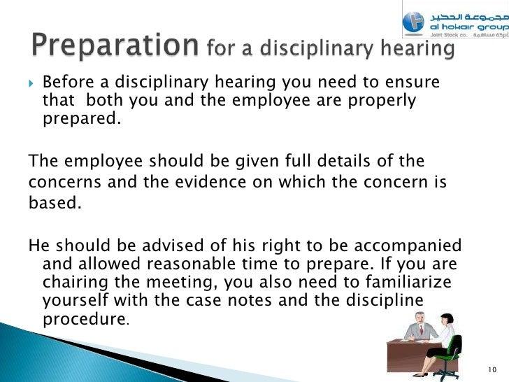 9 10 Before A Disciplinary Hearing