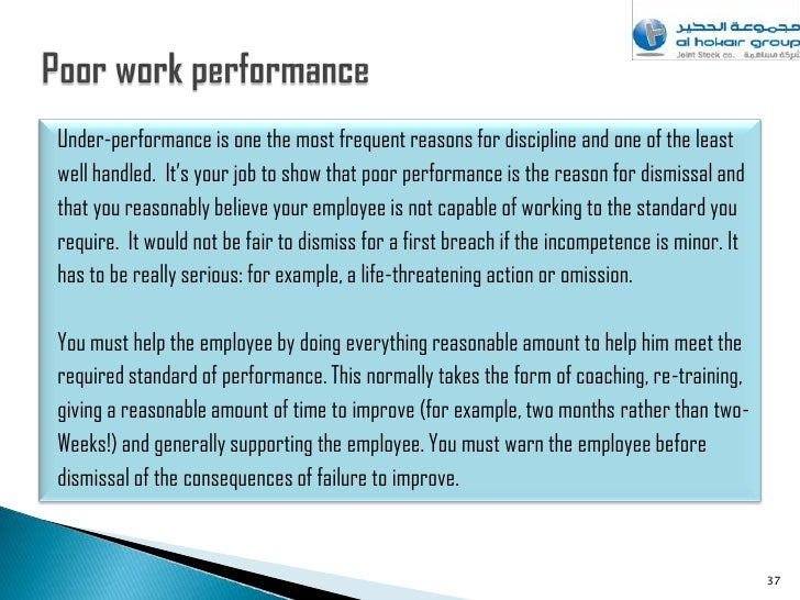 Sample warning letter to employee for poor performance how to sack employee spiritdancerdesigns Gallery