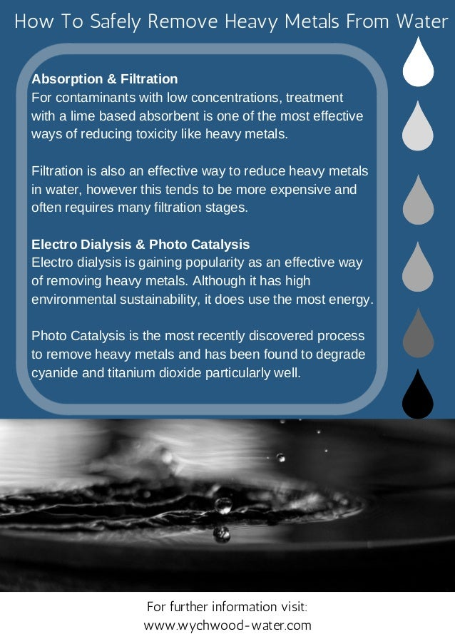 Treatment To Remove Metals From >> How To Safely Remove Heavy Metals From Water