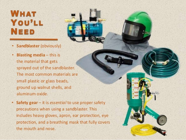Using A Sandblaster To Clean Car Parts