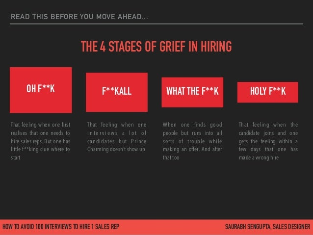 How to avoid 100 interviews to hire 1 sales rep Slide 3