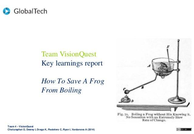 Team 4 – VisionQuest Chaturaphat O, Dewey I, Drego K, Pastelero C, Ryan I, Vardanova A (2014) Team VisionQuest Key learnin...