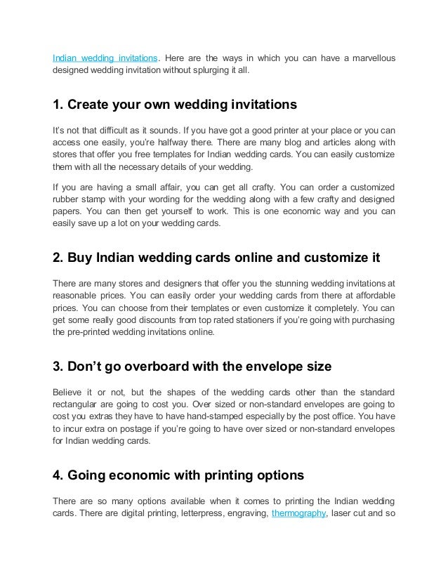 How To Save Big On Indian Wedding Cards