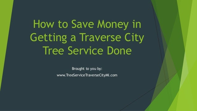 How to Save Money in Getting a Traverse City Tree Service Done Brought to you by: www.TreeServiceTraverseCityMI.com