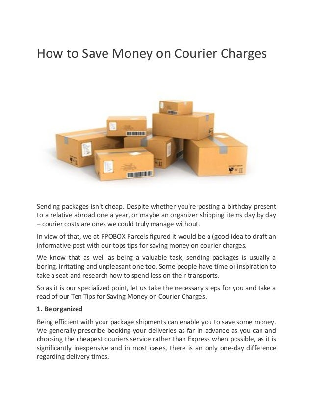 How to save money on courier charges