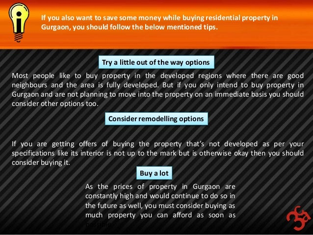 How to save money while buying residential property in gurgaon for How to get money to buy land
