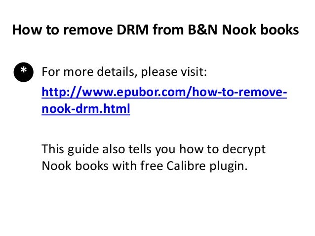 How To Save Nook Books And Remove Drm From Nook