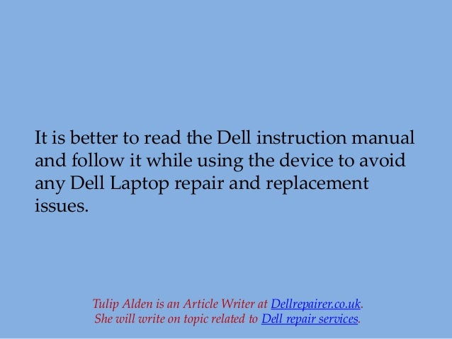 How do you get replacement manuals for Dell laptops?