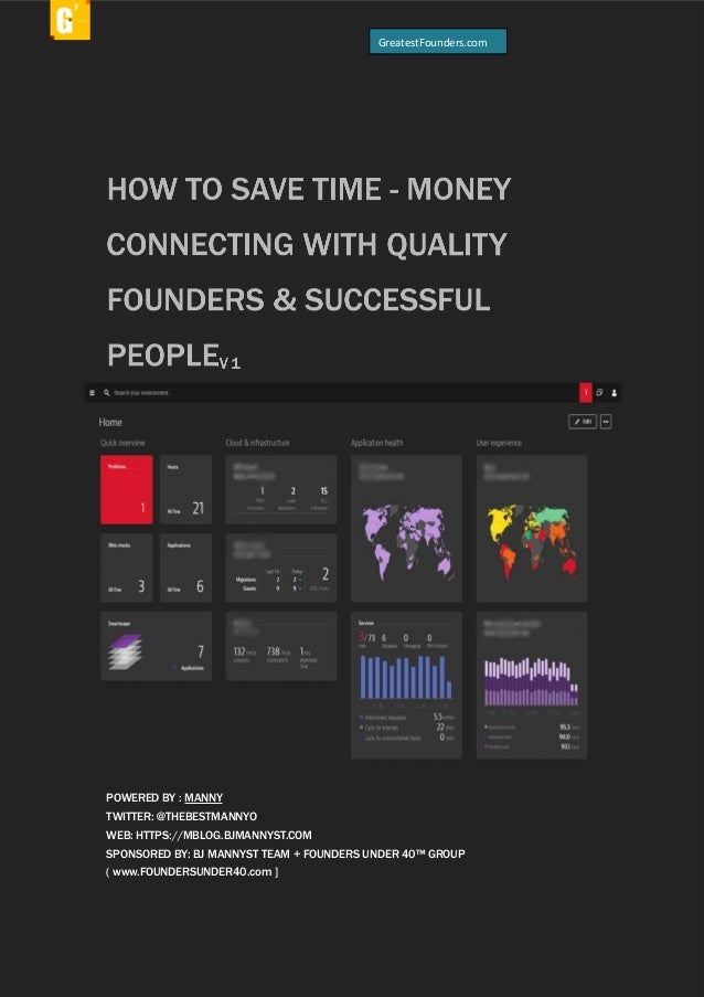 "ALL RIGHTS RESERVED. EMMANUEL ""MANNY"" OMIKUNLE SPONSOR: FOUNDERS UNDER 40™ GROUP + GREATESTFOUNDERS™ HOW TO SAVE TIME - MO..."