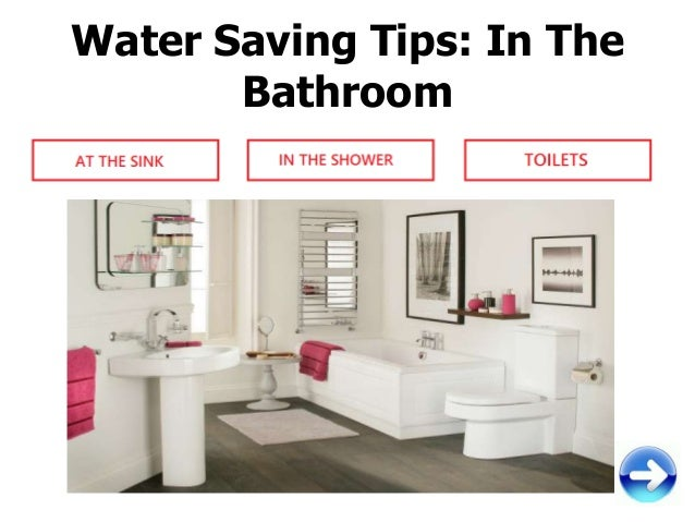 Saving Water In The Bathroom My Web Value