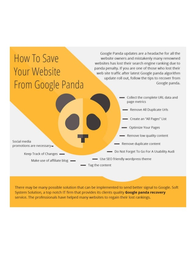 How to save your website from google panda
