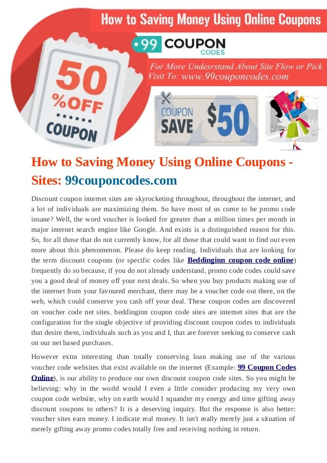 5ccc2e6cf0 How to saving money using online coupons sites  99couponcodes.com