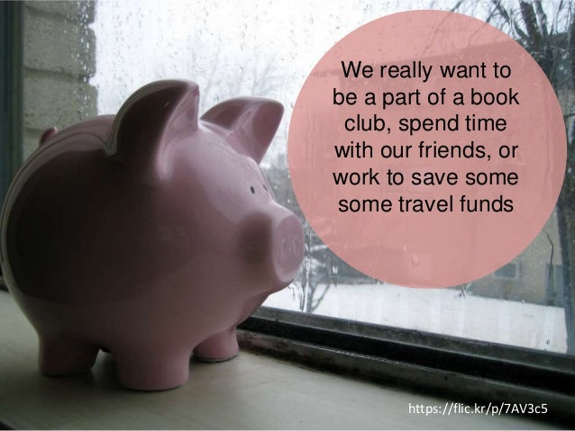 We really want to be a part of a book club, spend time with our friends, or work to save some some travel funds https://fl...