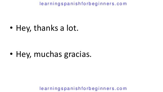 how to say thank u in spanish
