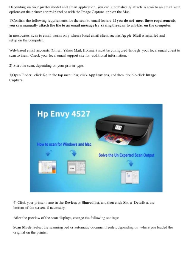 How to scan using hp envy 4527