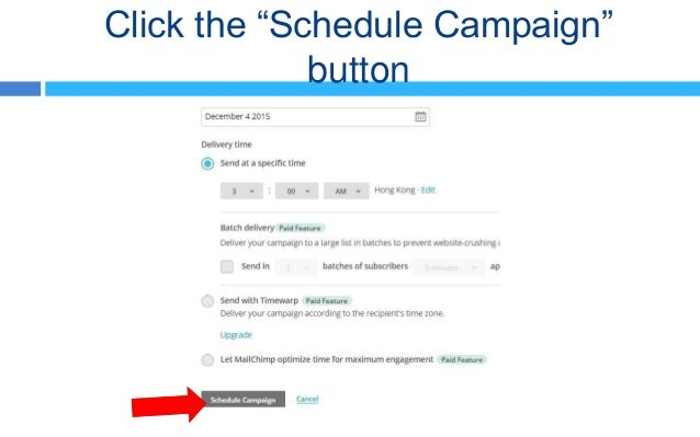 how to send a campaign in mailchimp