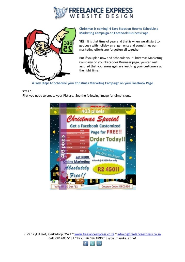 Christmas is coming! 4 Easy Steps on How to Schedule a                                        Marketing Campaign on Facebo...