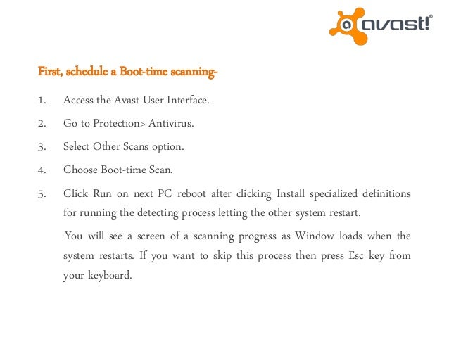 avast boot scan additional definitions